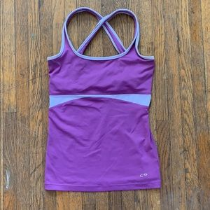 Champion Workout Tank, XS, Purple